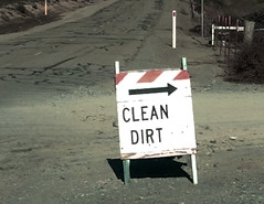 Clean Dirt For All (I Love Badger Dogs!) Tags: costa island bad stanton photographybig dirtcleanclean dirtoxymoronfunnysignjersey islandanthony billcontra countycabethel
