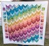 Finished True Colors Chevron Quilt (Pitter Putter Stitch) Tags: rainbow border chevron hst parallelogram truecolors annamariahorner halfsquaretriangle accuquilt