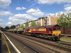66204, Kensington Olympia (looper23) Tags: uk london diesel rail railway 66 class olympia april kensington 2014 66204 uploaded:by=flickrmobile flickriosapp:filter=nofilter