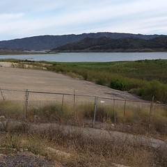 California really is running out of water. This boat ramp goes to dry land! Have to figure a new way to get the boat in the water now.