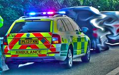 North West Ambulance Service attend motorway crash (sab89) Tags: west motorway crash north ambulance service attend