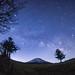 Hello Summer Milky Way - Mt. Fuji (reonides) Tags: nikond800 fisheye mtfuji 富士山 天の川 milkyway 星景 star stars longexposure