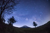 Hello Summer Milky Way - Mt. Fuji (reonides) Tags: nikond800 fisheye mtfuji 富士山 天の川 milkyway 星景 star stars longexposure
