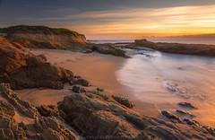 Golden Hour Sandstone Beach (Michael Carl) Tags: