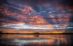 Sunset (Kiwi-Steve) Tags: nz newzealand northisland bayofplenty tauranga sunset colour cloud nikond7200 nikon reflection