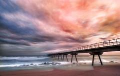 Un poco de color (Ramirez de Gea) Tags: atardecer nubes sky puente puestadesol orilla arena tokinaaf1224mmf4