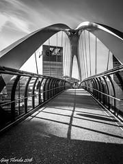 A bridge to the future (Gian Floridia) Tags: milano piazzaginovalle portello viarserra architettura bn bw bienne bridge ciclopedonale future futuro passerella ponte