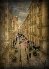 ... vivir la calle ... (franma65) Tags: barcelona textura texture gente calle street streetsofbarcelona callesdebarcelona