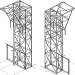 Constructie ten behoeve van warmteterugwinning van 300.000m³/h