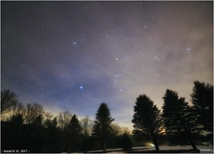 Poor Transparency on March 21, 2017 (Tom Wildoner) Tags: tomwildoner leisurelyscientistcom leisurelyscientist transparency poor march 2017 astronomy astrophotography astronomer canon canon6d samyang tripod weatherly pennsylvania carboncounty orion sirius betelgeuse canismajor canisminor trees pines clouds cloudy nightsky night