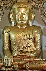 Inthein, Myanmar - Shwe Inthein Paya - Buddha Image (zorro1945) Tags: inthein inlelake shanstate myanmar burma asia asie southeastasia shweintheinpaya paya pagoda temple buddhisttemple buddhaimage buddha goldenbuddha smilingbuddha