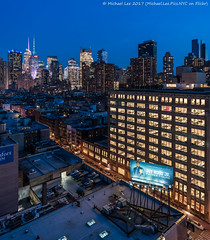 636 11th Avenue (20170324-DSC09204-Edit) (Michael.Lee.Pics.NYC) Tags: newyork aerial hotelview presslounge ink48 rooftopbar 47thstreet 63611thavenue ogilvymather billboard advertising midtownmanhattan architecture cityscape timessquare night twilight bluehour rooftops sony a7rm2 zeissloxia21mmf28