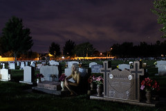 1 (amandariot21) Tags: girl cemetery grave graveyard night clouds dark dead photography scary model dress spirit ghost tombstone eerie story soul haunting ghosts haunt