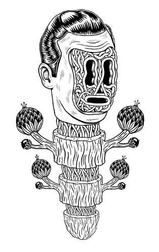 work in progress (pearpicker.) Tags: bw plant art illustration hair weird drawing surrealism surreal greasy mutation benerohlmann