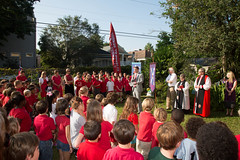 St Andrew's groundbreaking May 2013-7922 (babaroosifer) Tags: school john ceremony standrews shovel groundbreaking barousse 2013 masonlecky mothergaumer