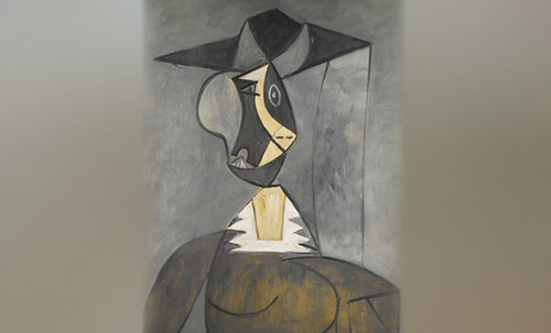 "Mujer en Gris, caracterización de Pablo Picasso (1942), recreación de Roy Lichtenstein (1962). • <a style=""font-size:0.8em;"" href=""http://www.flickr.com/photos/30735181@N00/8805265585/"" target=""_blank"">View on Flickr</a>"