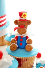 Circus Clown Bear! (Little Cottage Cupcakes) Tags: bear cupcakes circus clown toppers fondant cupcaketower sugarpaste littlecottagecupcakes