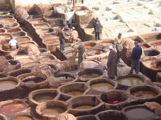Fez Medina leather tannery