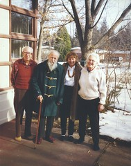 Walter Rudin, L. C. Young, Sylvia Wiegand & Mary Elllen Rudin, Madison 1998 (ali eminov) Tags: winter friends seasons madison professors groups mathematicians groupphotos walterrudin maryellenrudin topologists lcyoung sylviawiegand