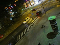 Urban night (Rosmarie Wirz) Tags: street people lights traffic poland birdseyeview gdansk danzig urbannight blinkagain