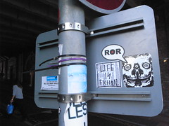 Arrex ROR'ing (Hot Rod(R)) Tags: street england art brighton heart stickers combos stickerbomb stickerbombs arrex