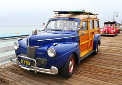 San Clemente Ocean Festival 2013 7.20.13 5 (Marcie Gonzalez) Tags: marcie gonzalez marciegonzalez marciegonzalezphotography photography canon woodies woody pier piers san clemente ocean festival orange county southern california socal so cal beach water oldies oldie car cars vintage antique classic wood paneling panel wooden vehicle transportation classics planks planking chrome metal shinny collector collectors restored elegant elegance parade display show grey day cloudy overcast hot rods event yearly shore coast usa us united states america north americana 2013 sanclementeoceanfestival