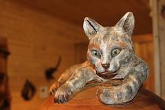 Unos Djur (auzgos) Tags: museum konst katt djur trä sommarfoto sf130728