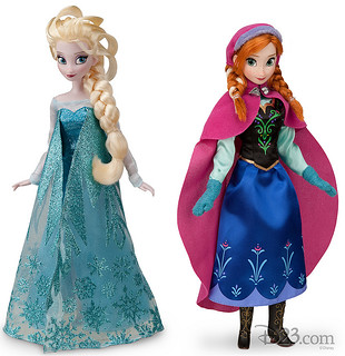 Elsa and Anna Dolls-FROZEN
