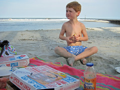 Domino's Pizza at the beach (babyfella2007) Tags: ocean blue sea sky jason beach sc cup nature water coffee pool swimming swim carson children bread outside island restaurant sand waves child natural cola eating grant south tide low hunting salt mother michelle coke son running company southern coastal bbc taylor carolina coca beaufort tidal groin