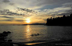 Sunset at Stanley Park ('Dazza' Quarin...back from the Dead) Tags: sunset summer sun vancouver evening seawall stanleypark
