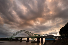 Bridge... (Digital Diary........) Tags: uk bridge sky clouds mood atmosphere bigsky runcorn merseyside runcornbridge