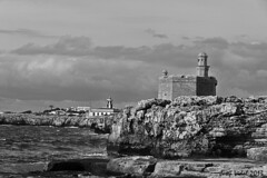 Passeig Martim ,Ciutadella Gener 2013 (50josep) Tags: blackandwhite beach canon torre wb invierno menorca biancoenero ciutadella whiteandblack canon40d 50josep geomenorca geomenorcaonlythebest