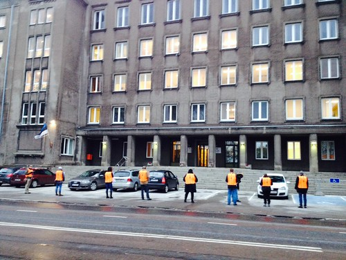 AHF and EHPV protest in front of the Ministry of Social Affairs in Tallinn (10/29/13)
