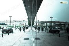 Torino, Piazza Valdo Fusi (OkFoto.it) Tags: torino italia fuji piemonte turin riflessi piedmont x20 piazzalefusi
