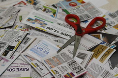 Coupon Pile Stock Photo