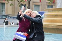 Selfie (PD3.) Tags: street uk ladies girls england london girl station lady train square sightseeing entertainment blond seeing ladys entertainer sight milf selfie trafalger milfs