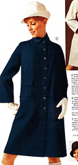 Sears 68 fw blue coat (jsbuttons) Tags: blue clothing 60s buttons sears coat womens catalog 1968 sixties 68 vintagefashion buttonfront
