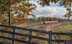 West Coast Mail (SydPix) Tags: autumn red electric scenery trains emu royalmail railways unit wcml winwick class325 325006 sydyoung