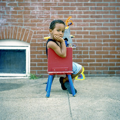 (patrickjoust) Tags: street city boy urban usa house color brick 120 6x6 tlr film home analog america lens us reflex kid md chair focus sitting child mechanical kodak united north patrick twin ma