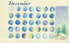 2014_12 calendar (blue_belta) Tags: blue art moleskine star sketch december calendar ブルー coloredpencil hous 色鉛筆 12月 カレンダー スケッチ モレスキン