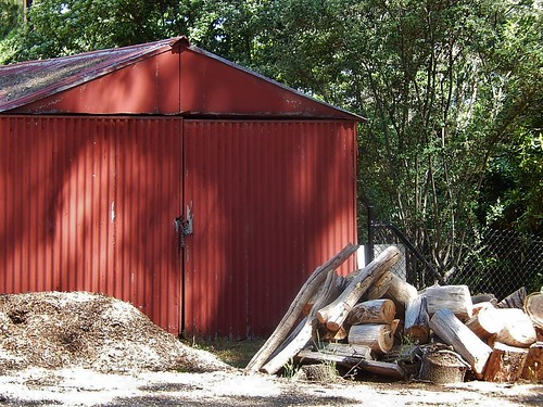 Shed with Firewood