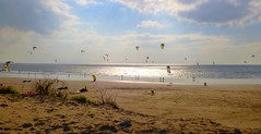 Coney Beach Kiteborders - Porthcawl (Andy.Gocher) Tags: andy gocher wales andygocher kiteboard kitesurf beach clouds water blast