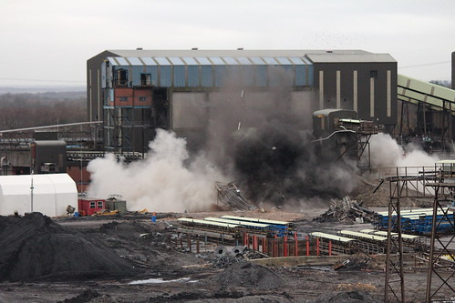 Demolition at Maltby Colliery