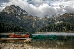 Black Lack (pbr42) Tags: lake nature water landscape boat nationalpark transport h2o transportation hdr montenegro blacklake durmitor durmitornationalpark