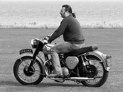 BSA Motorcycle - NNCVC Beeston Regis 01Sept13 (B&W) 091 (norfolkjohn) Tags: a7 bsa shootingstar nncvcbeestonregis01sept13