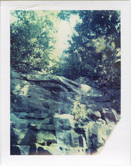 Cliff Cave Park (artistofmimicry) Tags: park cliff film balloons polaroid uv id 4 pack lone cave elk iv packfilm colorpack iduv filmpack 2thou