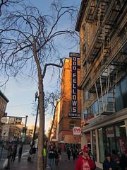 Odd Fellows (danieljsf) Tags: sanfrancisco city urban sign temple streetscene sidewalk marketstreet oddfellows thechallengefactory