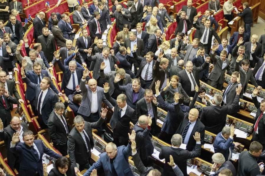 Партия Регионов голосует. Фото Глеба Гаранича, Reuters