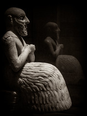 Ebih-il, the Sumerian (Αλήθεια ...... ( Alicia G. )) Tags: sculpture museum louvre escultura museo mesopotamia parís sumer irak sumerian sumeria