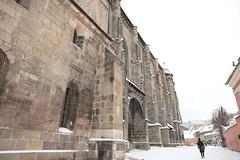 Ther Black Church (osamot) Tags: snow romania snowfall brasov bisericaneagra theblackchurch
